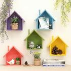 Hanging House Storage Box Decorative Wooden Case Wall Mount Flower Pot Holder