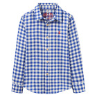 Joules Boys Jnr Sark Checked Shirt Blue Gingham Linen Size 3 to 9-10 Years
