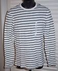 New OLD NAVY Men's Shirt Size S Waffle Knit Striped Long Sleeve Cotton Tee Small