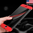 360° Full Cover Slim Shockproof Armor Hard Back Case For iPhone 5 6 6s 7 Plus