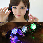 1pc Light Up LED Bling Crystal Earrings Ear Clip Dance Party Accessories Gift OL