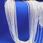"""New Fashion and Beautiful Wholesale 1/5pcs 2mm silver """"O"""" Chain necklace 16""""-30"""""""