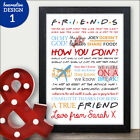 PERSONALISED TV Show Quotes Birthday Gift Present Sign Home House Wall Art