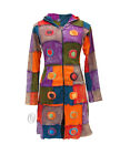 Womens Patchwork Boho Hippie Gothic Long Jacket Festival Outdoor Emo Hoodies
