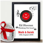Personalised 10th Tin Wedding Anniversary Gift - First Dance Song Print Gifts
