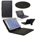 US! Folio Stand Keyboard Leather Case Cover For 7''/8