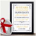 30th Wedding Personalised Anniversary Gift 30 Wedding Anniversary Presents Pearl