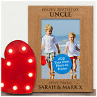 PERSONALISED Happy Birthday Uncle Gifts - Engraved Photo Frame for Uncle Dad Son
