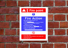 Fire Action / Point HSE sign Health & Safety FA06 25cm x 30cm sign or sticker