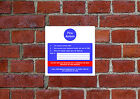 Fire action HSE sign Health & Safety FA21 20cm x 20cm sign or sticker