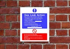 Gas Leak Action HSE sign Health & Safety FA12 25cm x 30cm sign or sticker