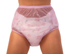 Внешний вид - Pink Sheer Leak Prevention Diaper Cover Plastic Pants