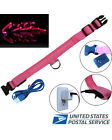 LED Dog Collar Rechargeable Nylon Bright Lighted Puppy Pet Night Safety Glow NEW