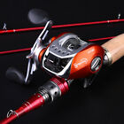 Baitcasting Fishing Rod and Reel for Saltwater Freshwater 2sections Fishing Kits