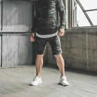 Men Casual Calf-Length Jogging Trousers Shorts Fitness Sports Workout Sweatpants