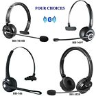 Wireless Bluetooth Noise Cancelling Mic Headset For Trucker Driver Cellphone PS3