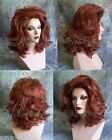 Auburn Red or Burgundy Red Lots of Volume Medium Length Drag Queen? Womens Wig