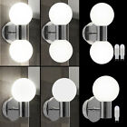 LED wall lights chrome bath room mirror lighting glass ball exterior lamps new