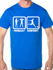Problem Sorted Play Football Hobby Funny Mens T Shirt Size S-XXL