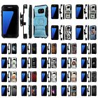 For Samsung Galaxy [S7] Armor Case [Kickstand] [Holster] [Screen Protector] - I