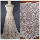 1 yard off white heavy beading wedding dress lace fabric 130cm width