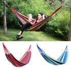 Portable Outdoor Canvas Hammock Sports Home Travel Camping Swing Stripe Hang Bed