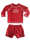 FUTURE LIFEGUARD BOYS Infant Toddler Swim Rash Guard Set UPF Size NB-6T USA Made