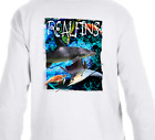 Real Fins Long Sleeve Shark Marlin Mahi Dolphin Sailfish Turtle Fishing T-Shirt