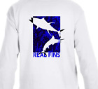 Real Fins Graphic Fishing Boat Marlin Mahi Dolphin Beach T-Shirt Long Sleeve