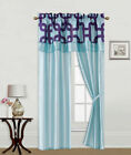 5PC SET WINDOW CURTAIN PANEL Light Softly Filtering Drapes ASSORTED PRINTED