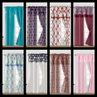5PC SET WINDOW CURTAIN PANEL Light Softly Filtering Drapes KNIGHT MANY COLORS