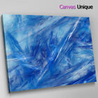 AB1082 Blue white contemporary Abstract Wall Art Picture Large Canvas Print