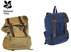 National Trust Traditional School Water Resistant Ruc Sac Rucksack Navy Khaki