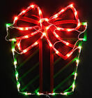 LIGHT UP CHRISTMAS (GIFT)..APPROX.16''X14''LIGHTS UP GREEN & RED BEAUTIFULLY..WI
