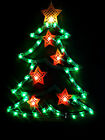 LIGHT UP CHRISTMAS (TREE)..APPROX.17''X13''LIGHTS UP GREEN & RED BEAUTIFULLY..WI