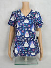 """Med Couture Christmas Scrub Top Style 9424 Anna. """"WINTER FUN"""" WNTR *NEW*"""