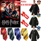 Harry Potter Cape Costume Adult Gryffindor Robe Cloak + Tie Set Cosplay Outfit