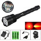 9000LM 3X Green Red White LED 500 Yard Flashlight Lamp Scope Mount+Remote Switch