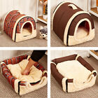 Pet Dog Cat Bed House Warm Soft Mat Bedding Igloo Basket Kennel Washable US