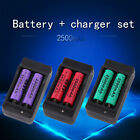 4x 2500mAh TR14500 3.7V Rechargeable Li-ion Battery + US Dual Charger Dock #L