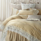 Embroidered Lace Duvet Quilt Doona Cover Set Queen King Size Bed Covers Set New