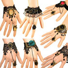 GK- Retro Vintage Lady Handmade Jewellery Gothic Lace Flower Finger Ring Bracele