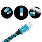 Braided Type-C Data Sync Charging Cable for ZTE Blade Max 3 XL Zmax Pro Z981
