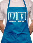 Problem Sorted Playing Tennis BBQ Cooking Novelty Apron
