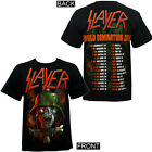 Authentic SLAYER Band World Domination 2014 Tour Extended Dates T-Shirt NEW