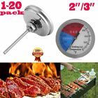 """LOT BBQ 3"""" Charcoal Grill Pit Wood Smoker Temp Gauge Thermometer Large Smoker HM"""
