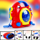 Children Singalong Karaoke System CD Player Alarm Clock Micro Sticker Headphones