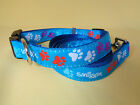 Blue Smiggle Lead and dog Collar leash set paw big medium cl