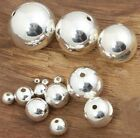 925 Sterling Silver Round Seamless Bead Spacer Loose DIY Craft 2 3 4 5 6 7 8 mm