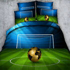 Football Duvet Quilt Doona Cover Set Super KING Single Queen Size Bed Covers New